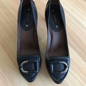 Céline Black Platform Loafer High Heel 41 / US 10